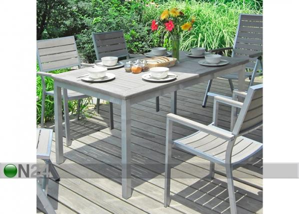 Puutarhapöytä STERLIN 90x150 cm EV-49429