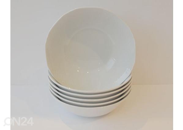 Valkoinen kulho AFRODYTA Ø18cm 6 kpl NN-50328