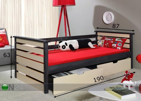 Sänkysarja, mänty 80x180 cm TF-51166