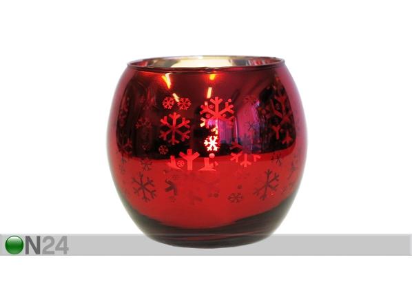 Kynttiläalusta LUMIHIUTALEET 7 cm ET-51587