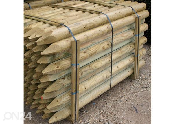 Kyllästetty puutolppa, 4 kpl 8,x200 cm PO-54870