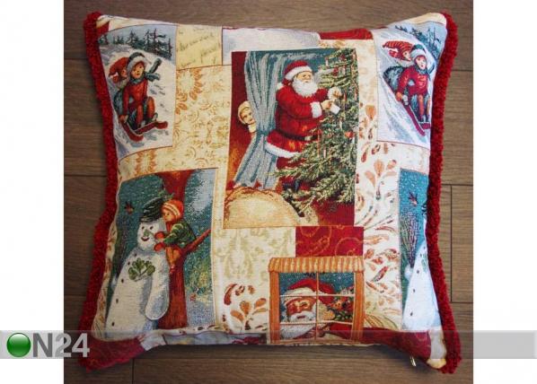 Gobeliinikankainen, jouluaiheinen koristetyyny LUMI TG-56078