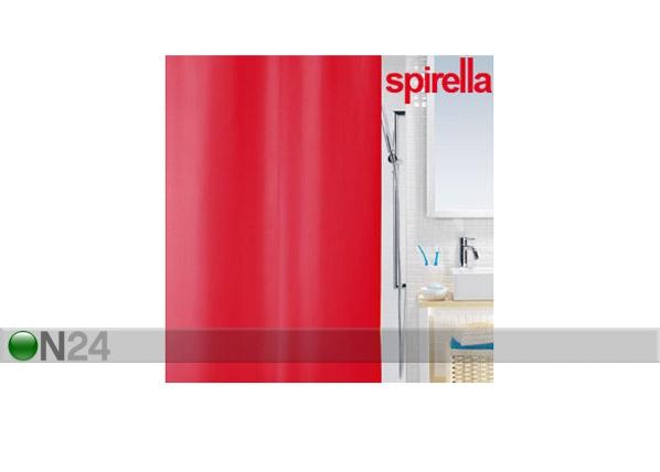 Suihkuverho SPIRELLA PRIMO punainen tekstiili UR-61367