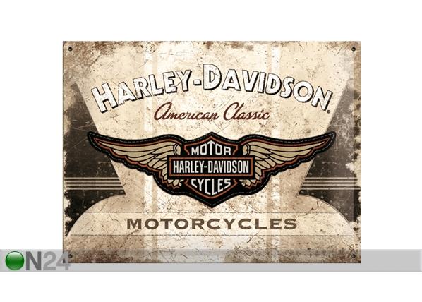 Retrotyylinen metallijuliste HARLEY-DAVIDSON MOTORCYCLES 30x40 cm SG-61608