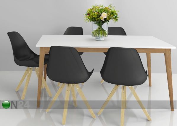 Ruokapöytä RETRO 104x165 cm CM-62332