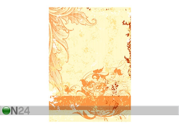 Kuvatapetti GRUNGE ORANGE SCROLL 200x280 cm ED-64733