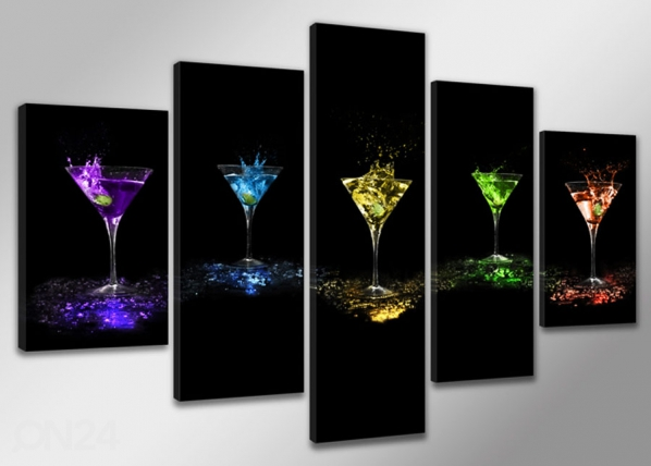 Viisiosainen seinätaulu DRINK ED-65498