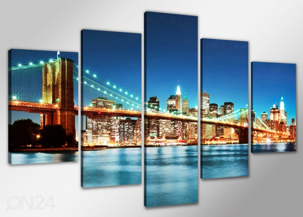 Viisiosainen seinätaulu NEW YORK ED-65500
