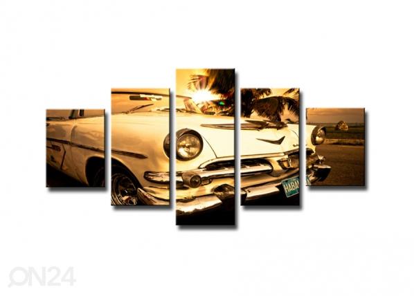 Viisiosainen seinätaulu AUTO ED-65528