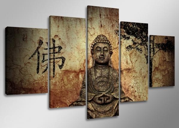 Viisiosainen seinätaulu BUDDHA ED-65580