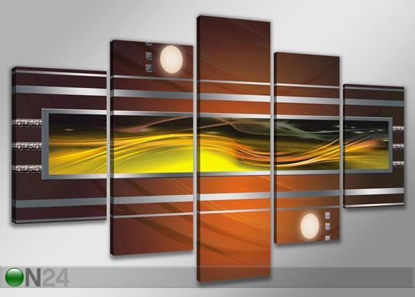 Viisiosainen seinätaulu ABSTRAKT ED-65604