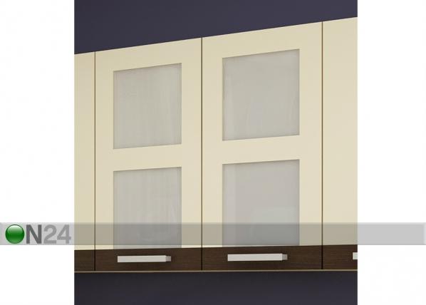 Keittiön yläkaappi kahdella lasiovella 80 cm TF-65877