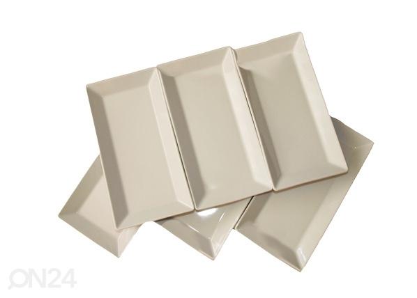 Valkoinen lautanen CLASSIC 23,5x12 cm NN-66464