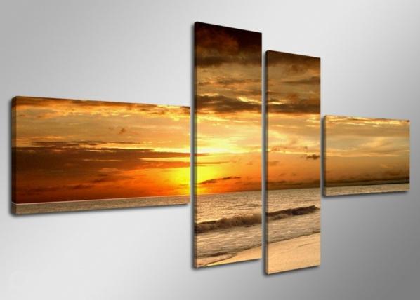 Neliosainen seinätaulu AURINGON LASKU 160x70 cm ED-66679
