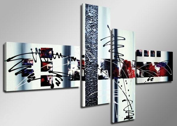 Neliosainen seinätaulu OPTIKA ED-66698