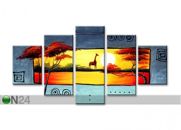 Viisiosainen seinätaulu KIRAHVI ED-67214