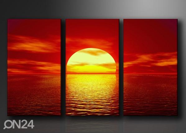 Kolmeosainen seinätaulu AURINGON LASKU ED-67571
