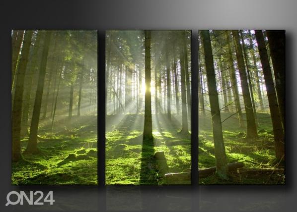Kolmeosainen seinätaulu PUUT ED-67575