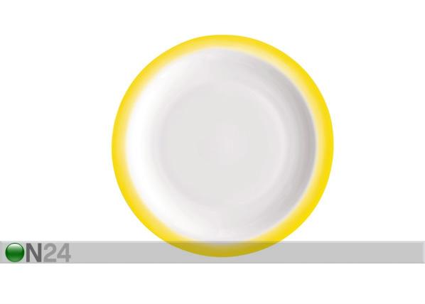 Jälkiruokalautanen PERFORMA DESSERT Ø19 keltainen 3 kpl ÄR-67916