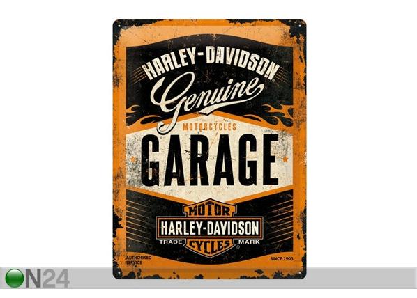 Retrotyylinen metallijuliste HARLEY-DAVIDSON GARAGE 30x40 cm SG-68162