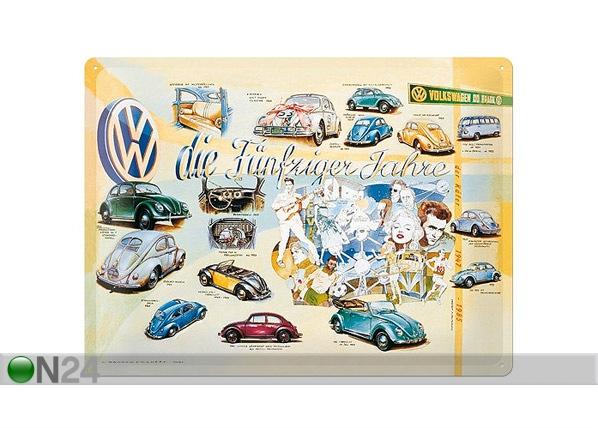 Retrotyylinen metallijuliste VW DIE FÜNFZIGER JAHRE 30x40 cm SG-68169