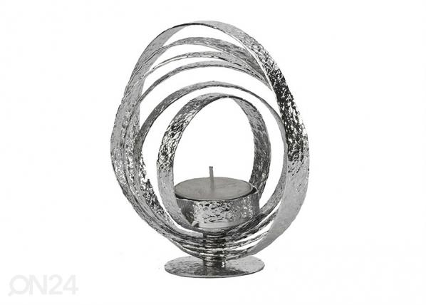 Kynttiläalusta CRUMPLED, kromi A5-69361