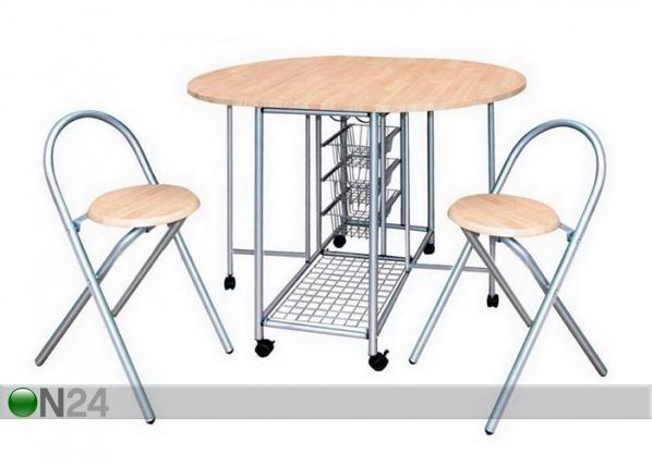 Taittopöytä ja 2 taittotuolia BERTIA AQ-69743
