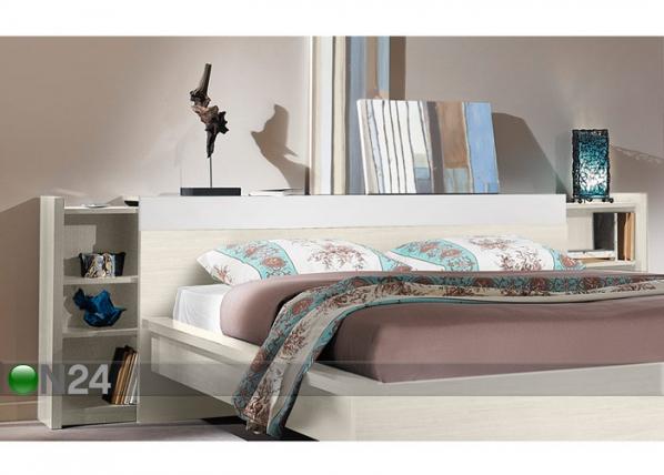 Sängyn päätyhylly BROOKLYN valkoinen kirsikka MA-69894