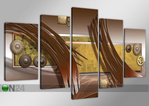 Viisiosainen seinätaulu ABSTRAKT ED-71652