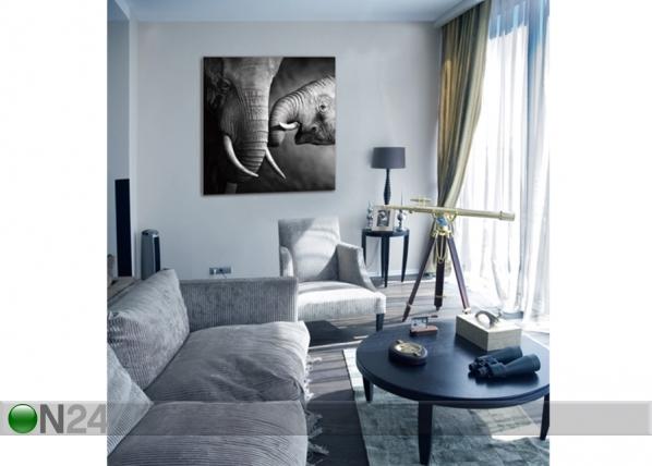 Seinätaulu ELEPHANTS 120x120 cm QA-72109