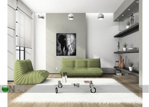 Seinätaulu ELEPHANT 120x120 cm QA-72110