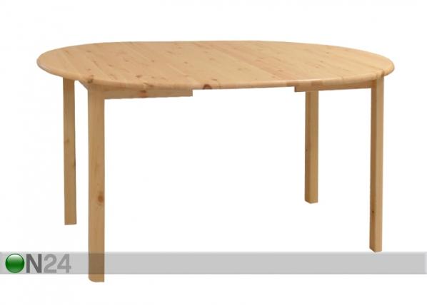 Jatkettava ruokapöytä, mänty 100x100-180 cm EC-72164