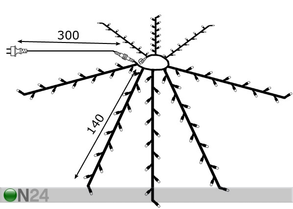 Aurinkovarjon valaisin Ø280cm AA-72914