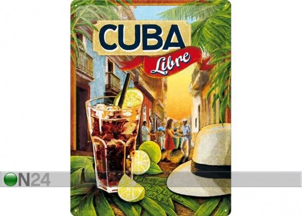 Retrotyylinen metallijuliste CUBA LIBRE 30x40 cm SG-73501