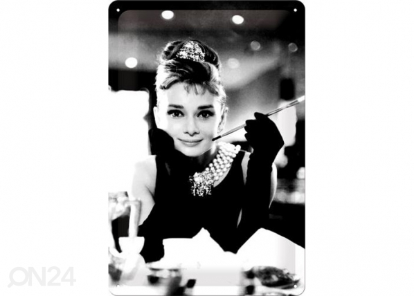 Retrotyylinen metallijuliste BREAKFAST AT TIFFANY´S AUDREY SG-73767