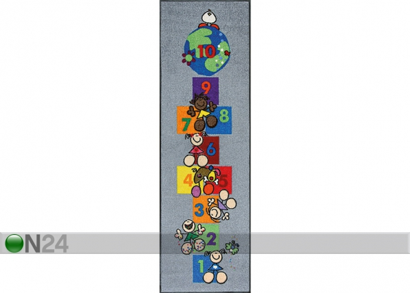 Matto FULANITOS NUMBER OF FRIENDS 60x180 cm A5-73877