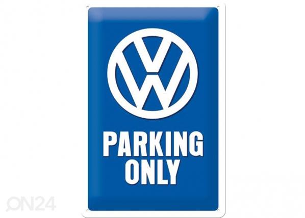 Retrotyylinen metallijuliste VW PARKING ONLY 20x30 cm SG-74271