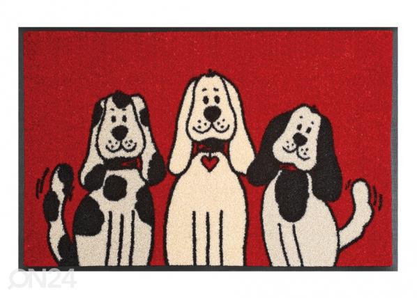 Matto THREE DOGS 50x75 cm A5-74717