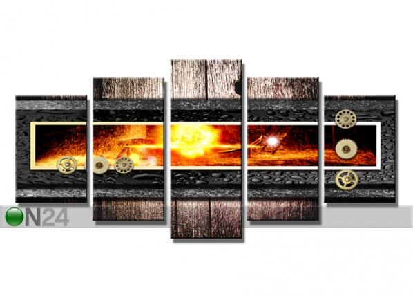 Viisiosainen seinätaulu LIEKKI 200x100 cm ED-75053