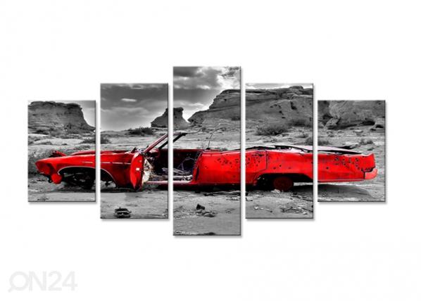 Viisiosainen seinätaulu AUTO 200x100 cm ED-75055