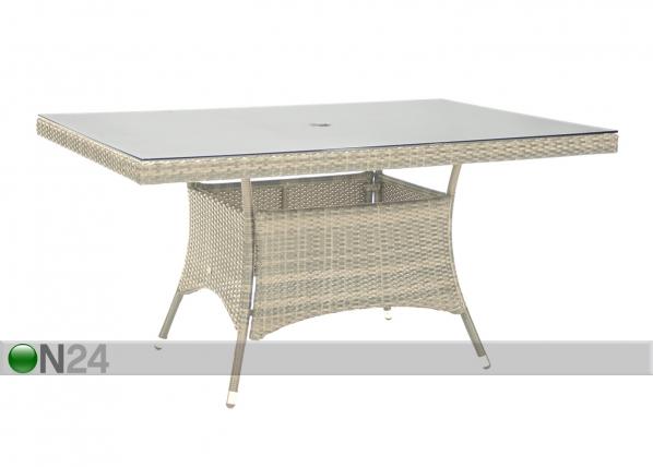 Puutarhapöytä WICKER EV-75678