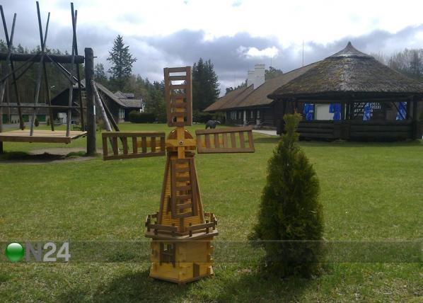Puutarhan koristetuulimylly 120 cm LK-76947