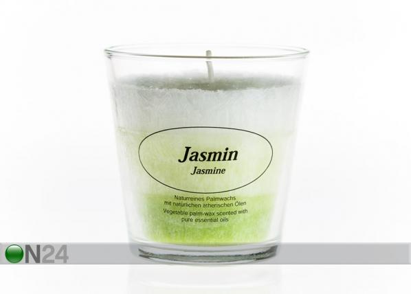 Palmuvahakynttilä lasissa JASMIINI CO-77656