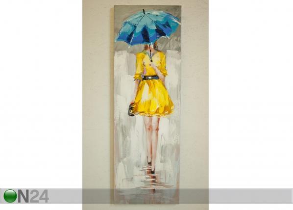 Öljymaalaus LADY KELTAISESSA 120x40 cm SI-78068