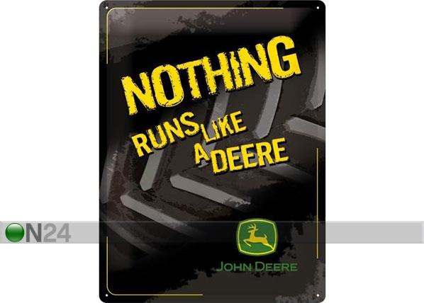 Retro metallijuliste JOHN DEERE NOTHING RUNS LIKE A DEERE 30x40 cm SG-78376