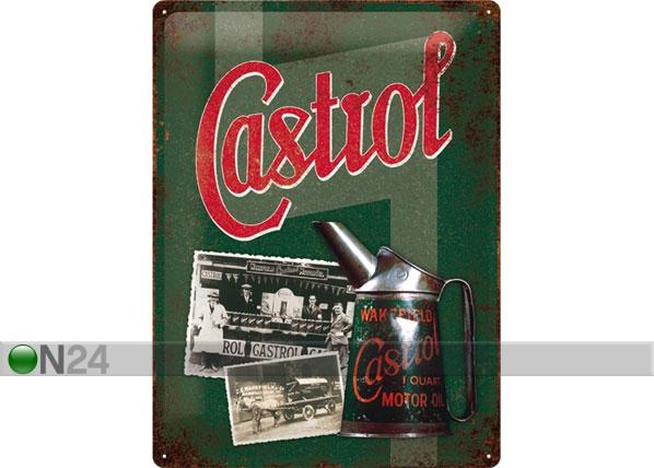 Retro metallijuliste CASTROL 30x40 cm SG-78383