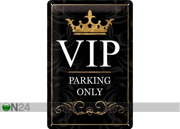 Retro metallijuliste VIP PARKING ONLY 20x30 cm SG-78388