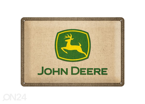 Retro metallijuliste JOHN DEERE LOGO 20x30 cm SG-78389