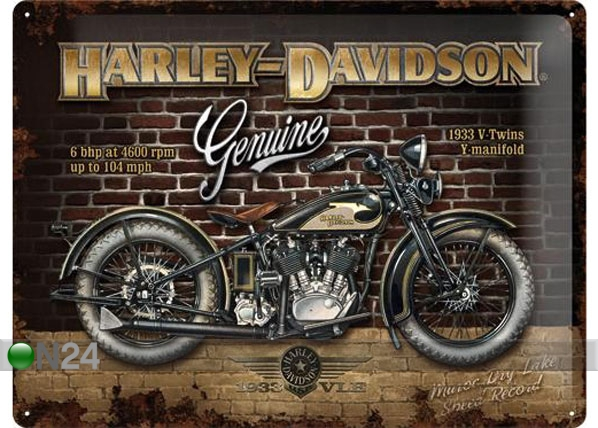 Retro metallijuliste HARLEY-DAVIDSON GENUINE 30x40 cm SG-78395