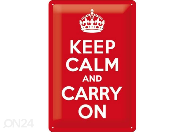 Retro metallijuliste KEEP CALM AND CARRY 20x30 cm SG-78400